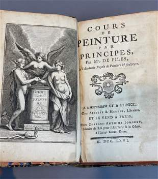 """Antique 18thc French Book """"Couers de Peinture"""" de Piles"""