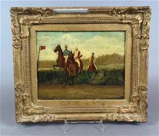 British School Equestrian Painting after Henry Alken