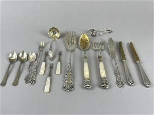 Antique Continental & Plated Silver Serving Pieces