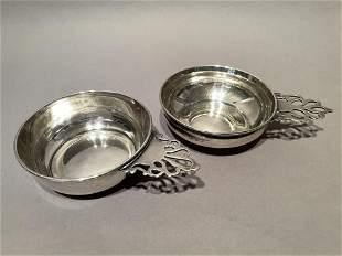 Pair of American Sterling Silver Porringers