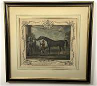 Pair of Framed Antique 18thc. English Equestrian Prints