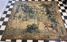 Antique 18thc French Aubusson Verdure Wall Tapestry