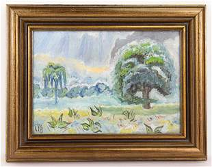 American Charles E. Burchfield Painting In the Style of