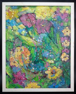 Walasse Ting Abstract Painting In the Style of