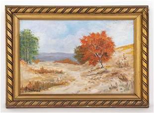 American Porfirio Salinas Painting In the Style of