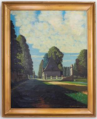 Realist Félix Vallotton Painting In the Style of