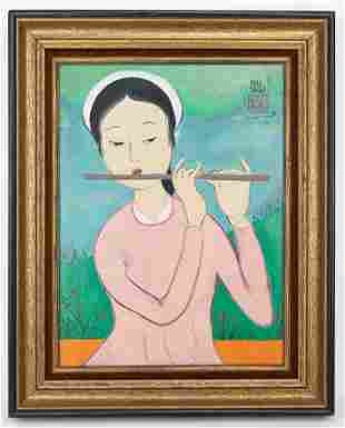 Mai Trung Thu (1906-1980) Oil Painting In the Style of