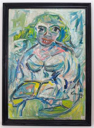 Willem de Kooning Expressionist Painting In the Style