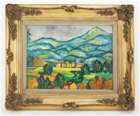 Post-Impressionist Paul Cézanne Painting In Style Of
