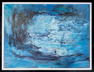 Painting In the Style of Chinese-French Zao Wou-Ki