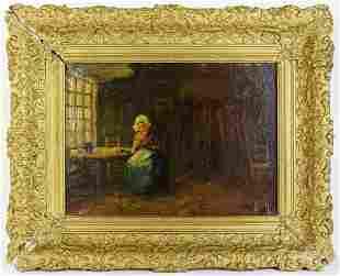 Dutch Jozef Israels (1824-1911) Painting