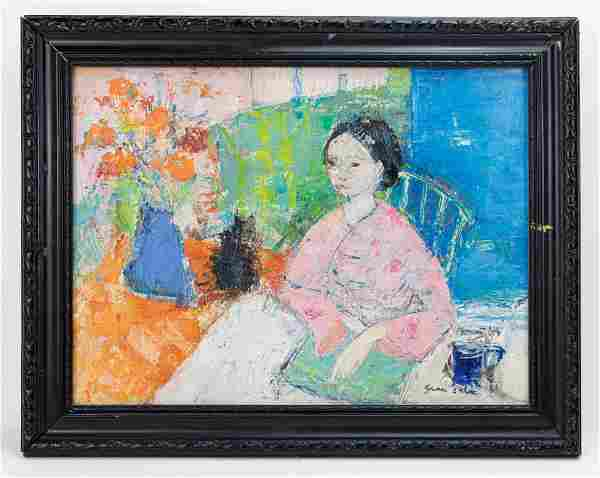 Emilio Grau Sala signed Oil Painting In Style Of