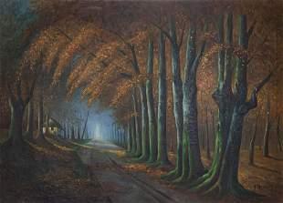 Bert Van Bulck (1915-1988) Enchanted Forest Oil