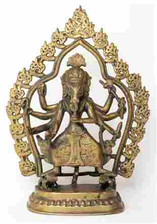 Antique Asian Indian Bronze Shiva Sculpture Figurine