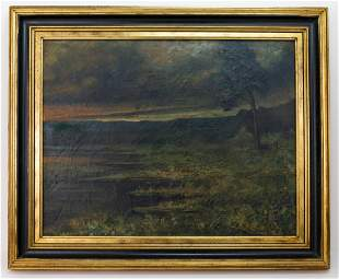 Ralph Albert Blakelock Landscape Painting In the Style