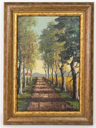 Autumn Forest Landscape Oil Painting