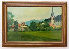Realist Felix Vallotton Painting In Style of