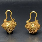 Pair Of Byzantine Golden Earrings (2)