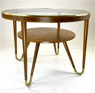 Italian Mid Mod Two Tier Round Coffee Table