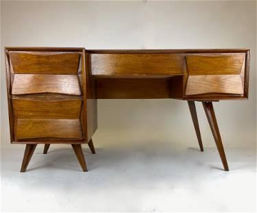 Mid Century Modern Danish Executive Desk
