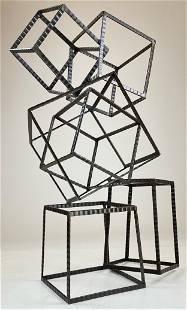 Metal Cube Sculpture