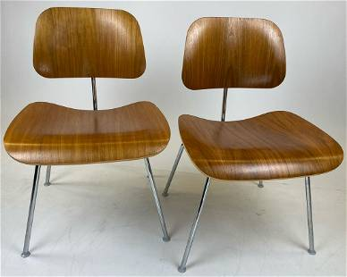 2nd Pair Eames Herman Miller Molded Plywood Dining