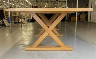 """Christian Liagre 137"""" Wood X Base Conference Table"""