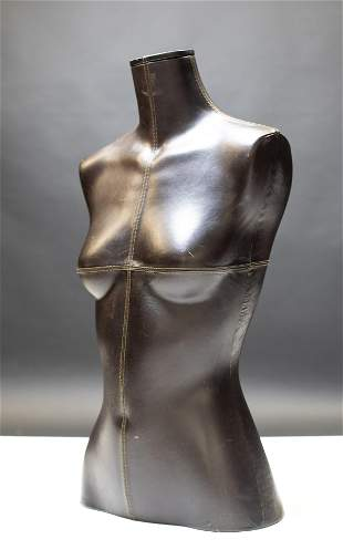 Leather Covered Female Torso Mannequin