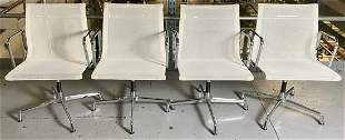 4 Herman Miller by Vitra Mesh Chrome Arm Chairs