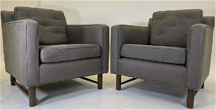 Pair of Grey Dunbar Club Chairs