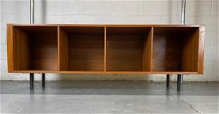 Modern, Low & Long, Open Front Wood Credenza