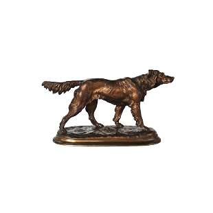 "Antique J. Moigniez bronze sculpture ""Seter"""
