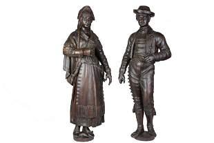 Antique wooden sculptures 19th Century