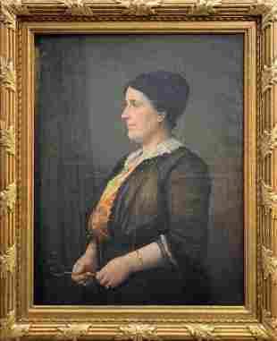 François Joseph Damien, portrait of a woman