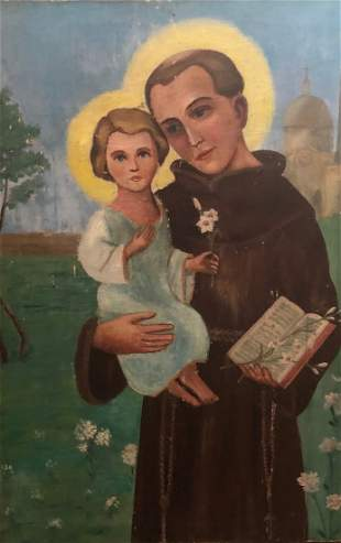 """Unknown Lithuanian artist """"Saint with a child"""""""