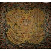 SQUARE CARPET WITH KESI DRAGON PATTERN, QING DYNASTY,