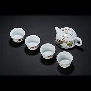 TEA SET, MANCHUKUO PERIOD, CHINA