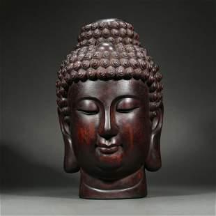 agilawood Buddha Head, Qing Dynasty, China