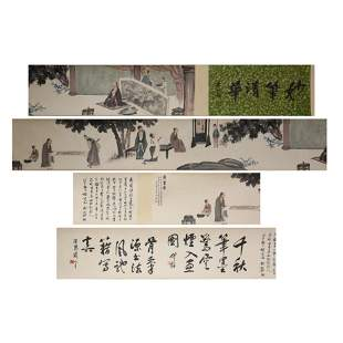 Chinese Calligraphy and Painting Hand Scroll, Fu Baoshi