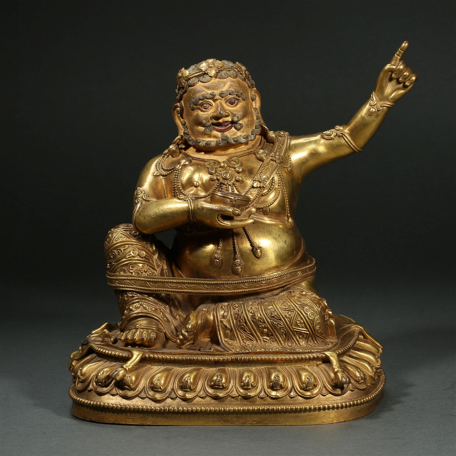 CHINESE MING DYNASTY BRONZE GILT GREAT ACHIEVEMENTS OF
