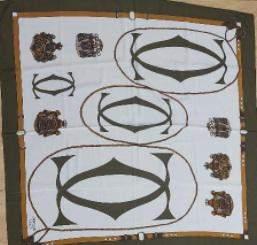 Cartier 100% silk scarf