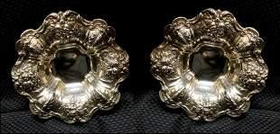 sterling pair Reed and Barton bowls makers mark