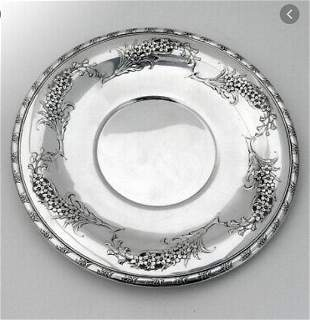 Wallace Larkspur sterling dish