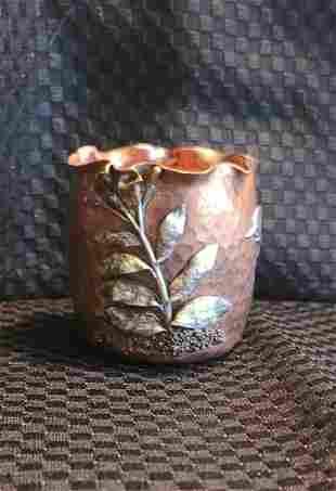 sterling bowl Gorham sterling mixed metals holder