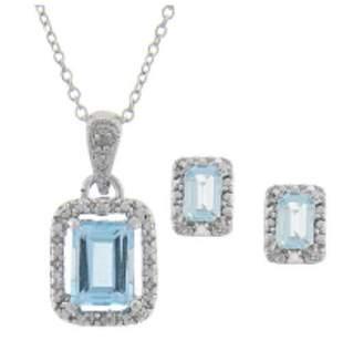 genuine topaz and diamond accent gem set