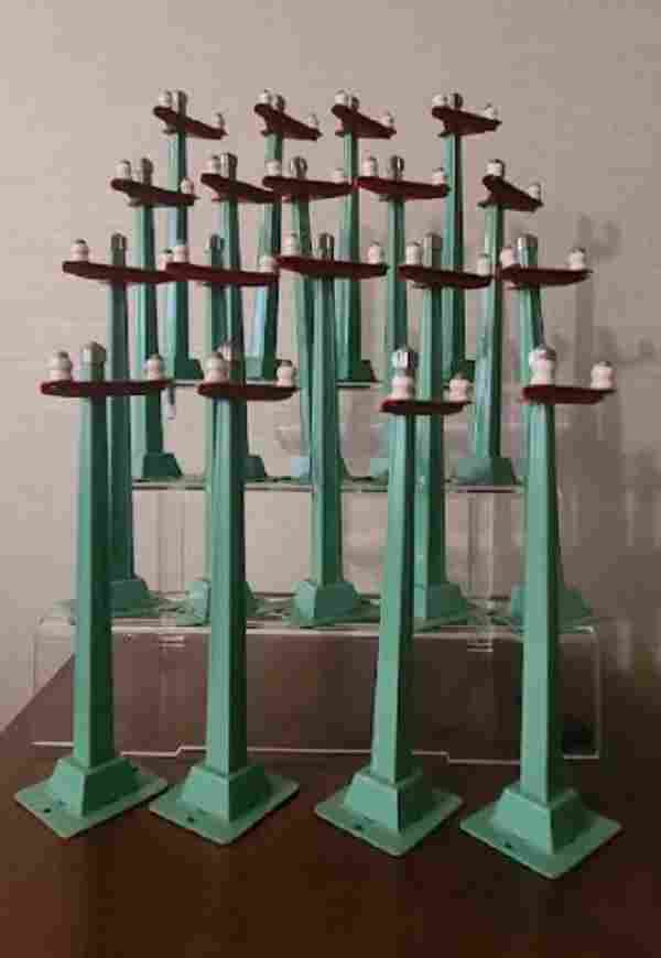 LIONEL TRAIN PREWAR #60 telegraph poles (18)