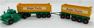 Matchbox King Size K16 Dodge Tractor with Twin Tippers