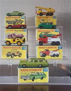 Matchbox Lensey superfast cars with original box