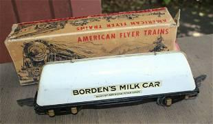 American Flyer Prewar 1939-40 412 Bordens Milk Car +box