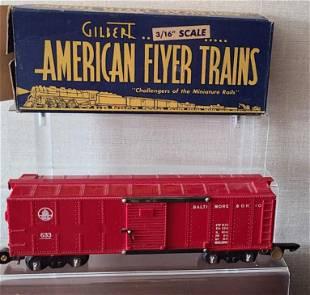 American Flyer Gilbert 1946 633R Boxcar + box
